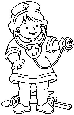"children online coloring pages | transmissionpress: ""Little Nurse"" Kids Coloring Pages"