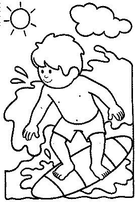 kids surfer coloring pages - photo#16