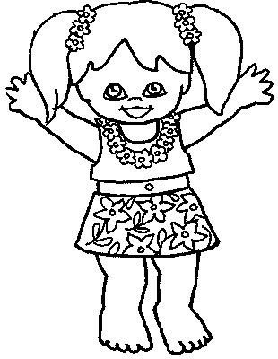 Nengaku Summer Clothes Kids Coloring Pages