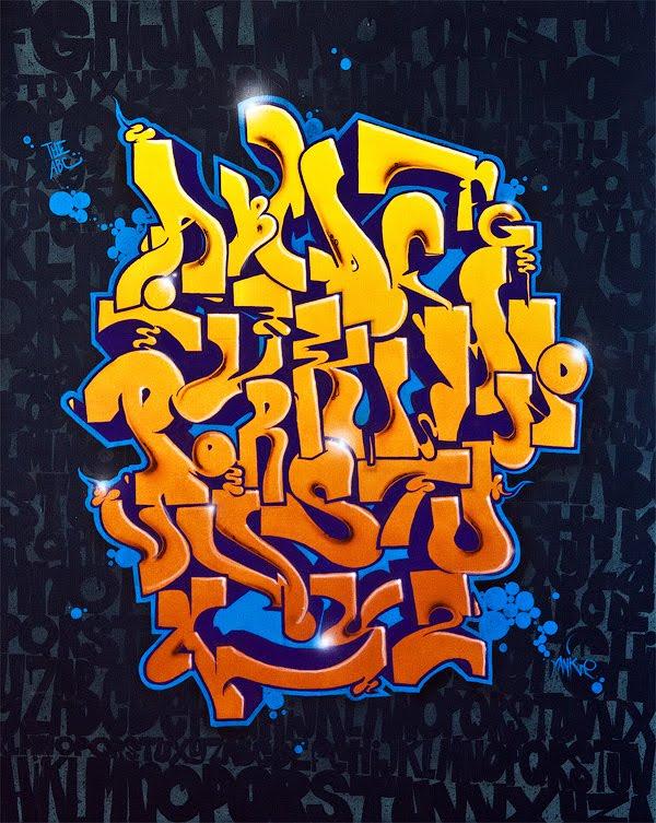 Graffiti 3d Arts Graffiti Alphabet Letters A Z Canvas For