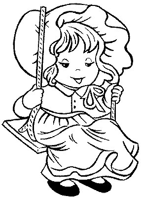 Transmissionpress Kids Coloring Pages Quot Little Girl On Swing Quot