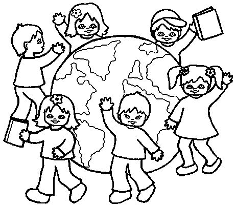World Children Coloring Page