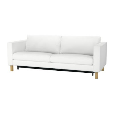 Ikea Exarby Cream Double Sofa Futon Cheap Sofabeds Sale