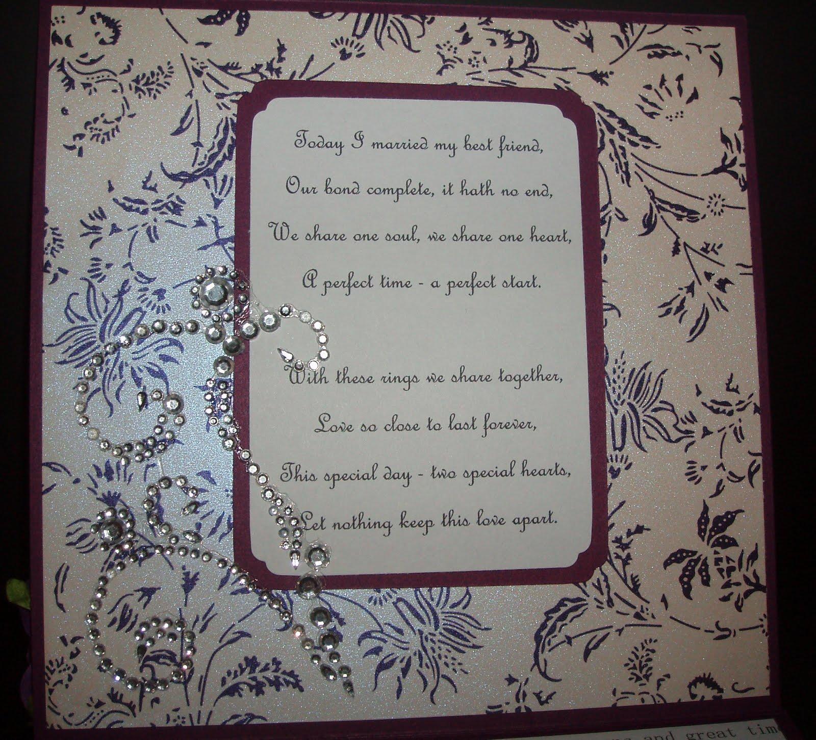 I det kreative hjørnet: Nok et engelsk bryllupskort