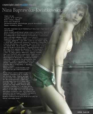 ZARZAR MODELS - Nina Baprawska Editorials
