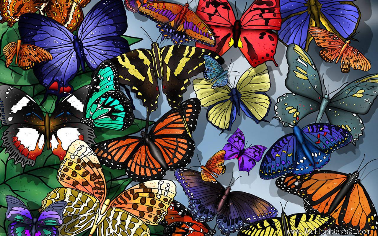 Download Wallpaper Pc 3d Painting Butterflies Wallpaper Cool Wallpapers