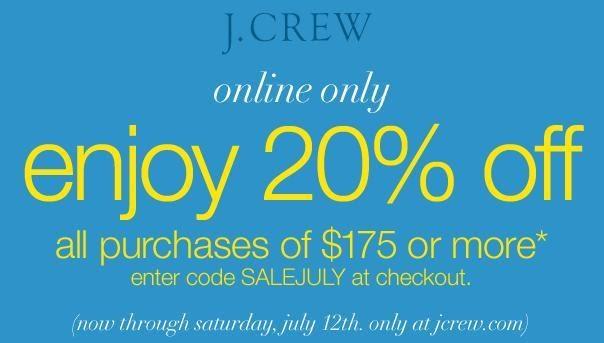 j crew free shipping promo