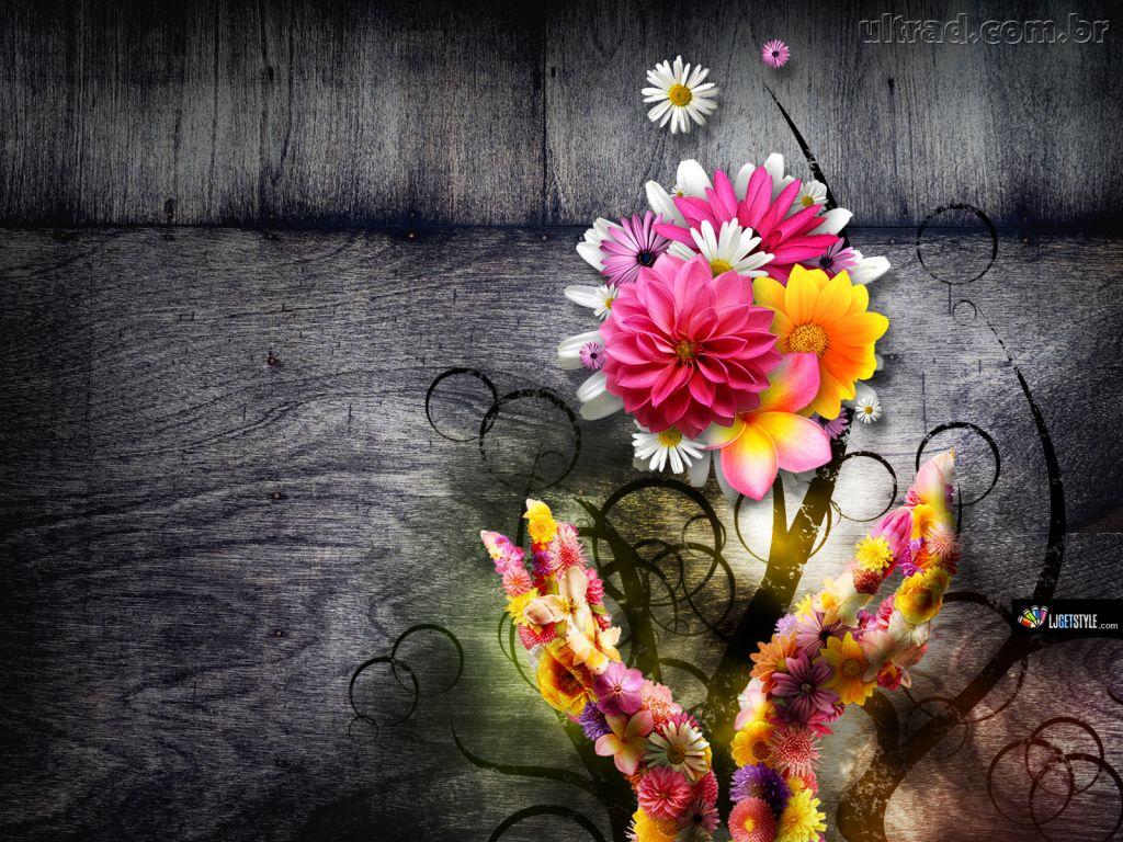 Planos De Fundo E Arte Digital: Planos De Fundo Flores