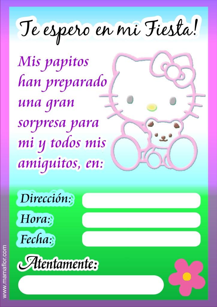 Me Gusta La Clase De Religión Invitaciones De Hello Kitty
