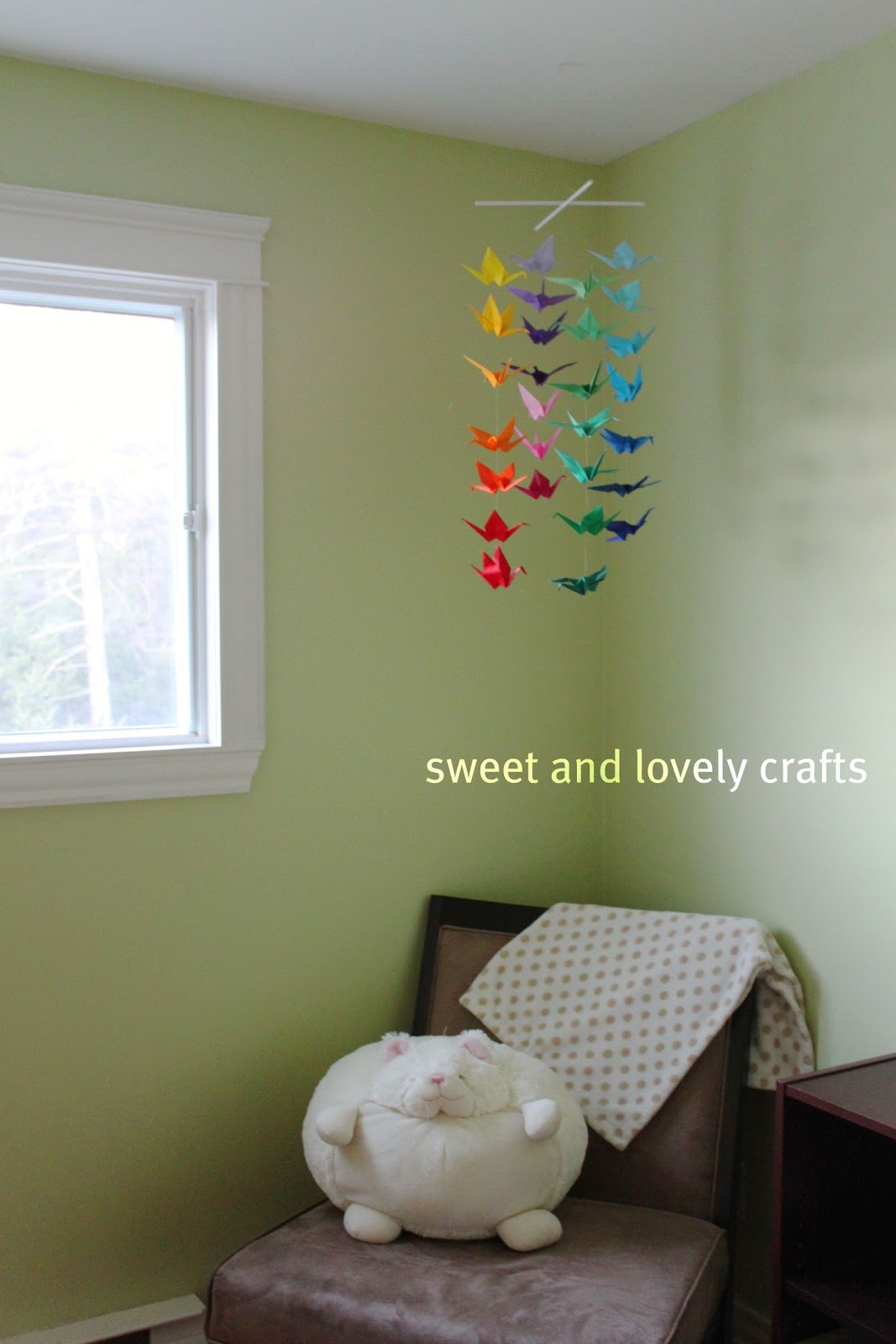 sweet and lovely crafts: origami crane mobile - photo#43