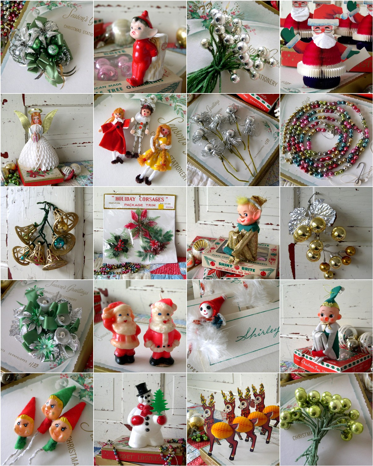Retro Christmas Decorations Ideas: Into Vintage: A Blue Christmas