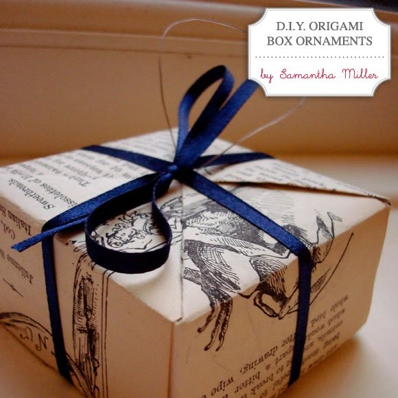 sea*life*style: DIY holiday decor: origami box ornaments - photo#38