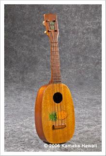 pineapple ukulele shape