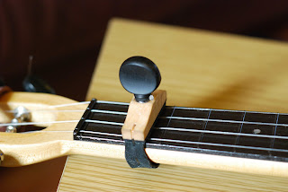 volcapo fitted to fluke ukulele