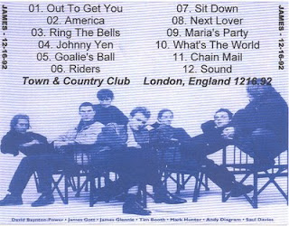 only james music james town and country club london 1992 12 16. Black Bedroom Furniture Sets. Home Design Ideas
