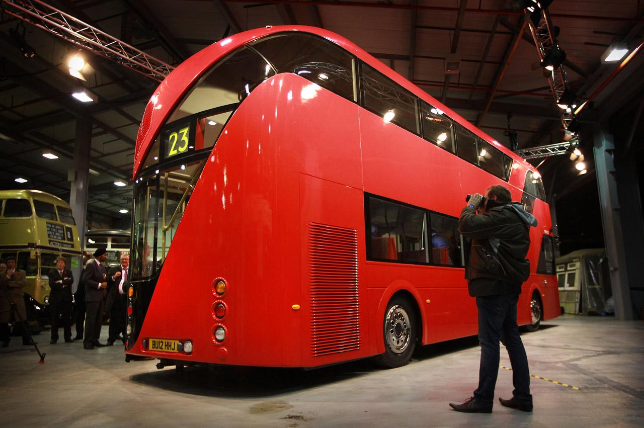 London Introduces Its New Double Decker Bus 2011 Garage Car