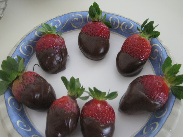 chocolate dipped strawberries on Gluten Free A-Z Blog