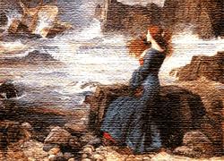 Grabado de Annabel Lee, poema de Edgar Allan Poe