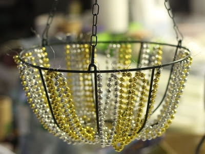 diy do-it yourself construction chandelier lamp light garlands