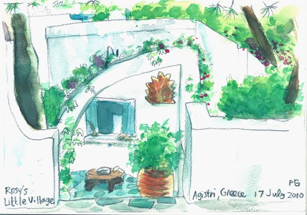 7f283470007 PETER GANDER FINE ART: Rosy's Little Village, Agistri island, Greece
