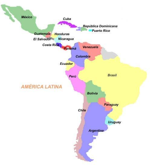 Resultado de imagen de latinoamerica mapa politico