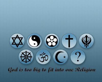 Dios es muy grande para caber en una sóla religión