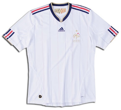 ShirtsFutboljunkie France World Cup Adidas 2010 Away iXkPZu