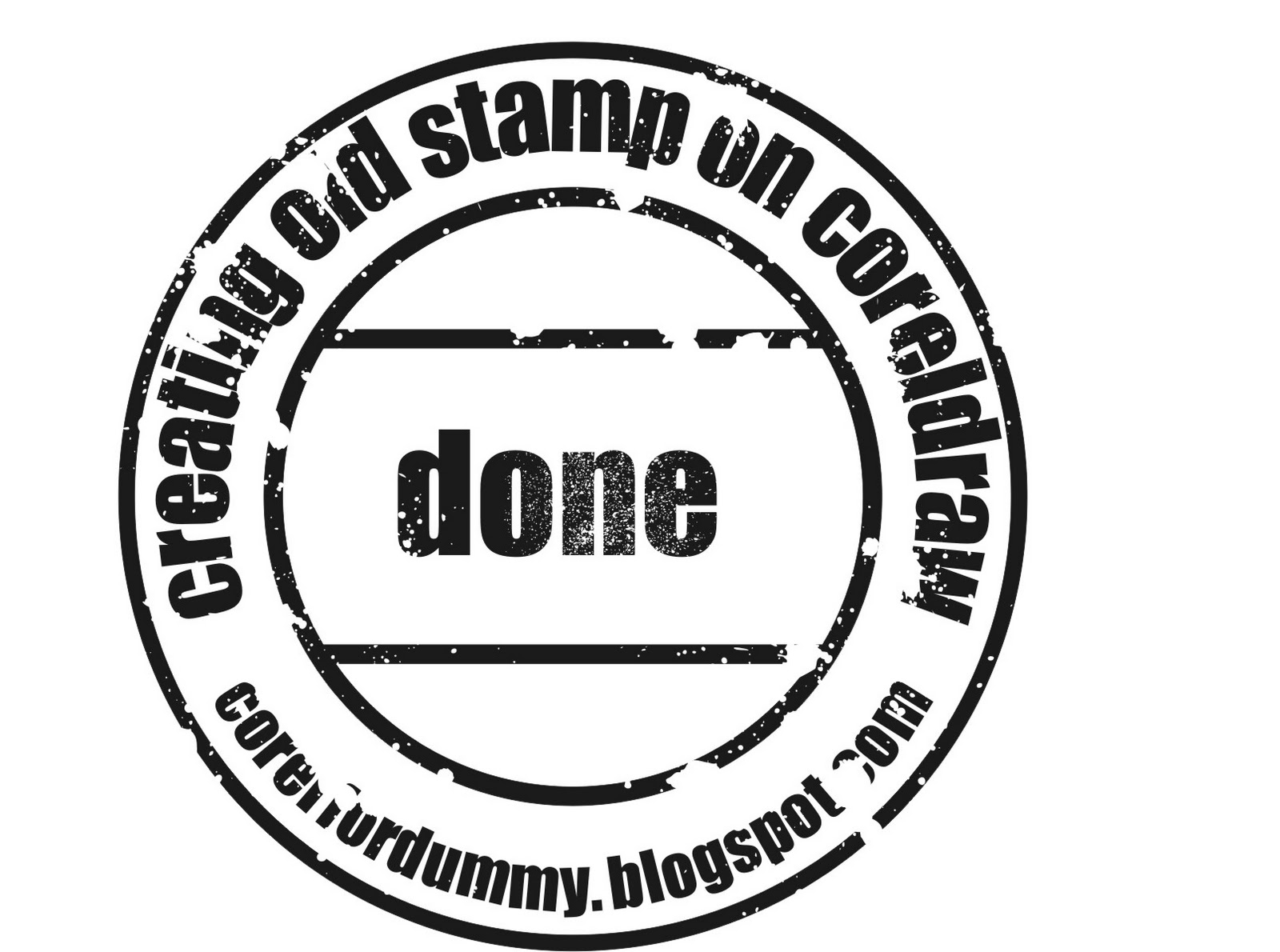 creating old stamp on coreldraw corel draw tutorial and free vectors