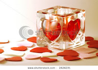 beautiful valentine candle greetings