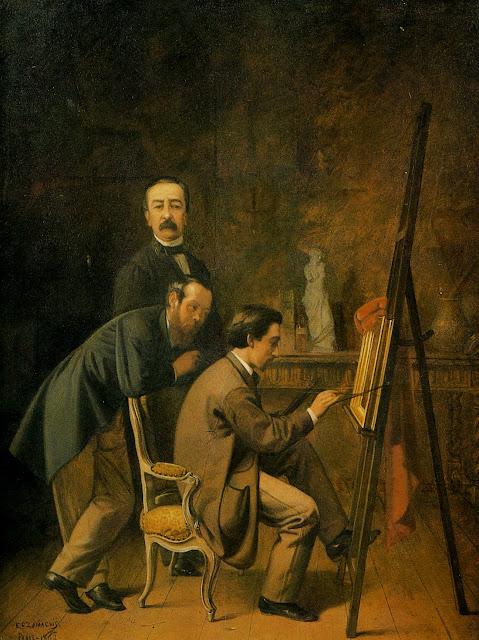 Eduardo Zamacois y Zabala, Portraits of Painters, Self Portrait, Fine arts