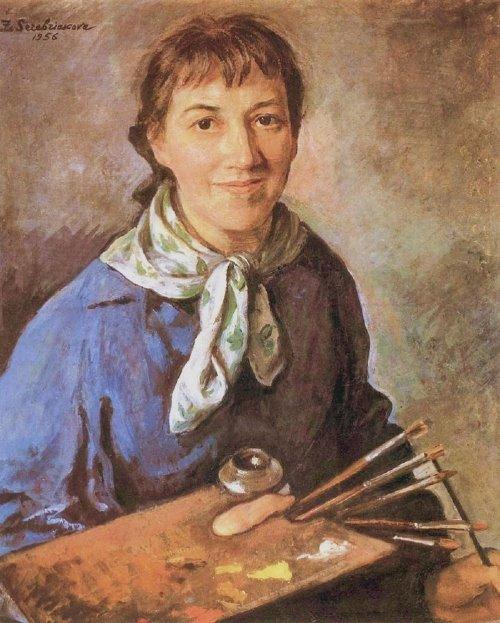 Zinaida Serebryakova, Self Portrait, Portraits of Painters, Fine arts, Portraits of painters blog, Paintings of Zinaida Serebryakova, Painter Zinaida Serebryakova