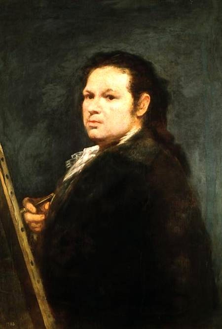Francisco de Goya, Self Portrait, Portraits of Painters, Fine arts, Goya