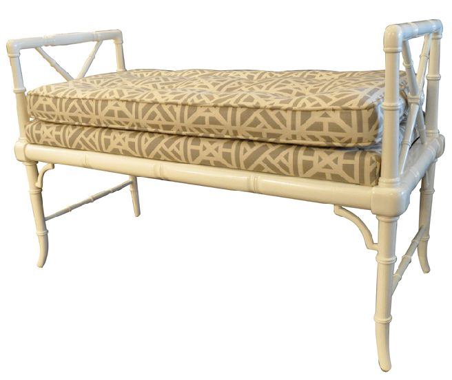 Empiric Furniture Comparative Shopping Faux Bamboo Bench