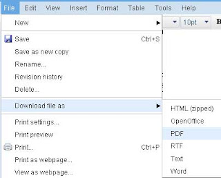 Convert Word (.Doc) File to PDF with Google Documents