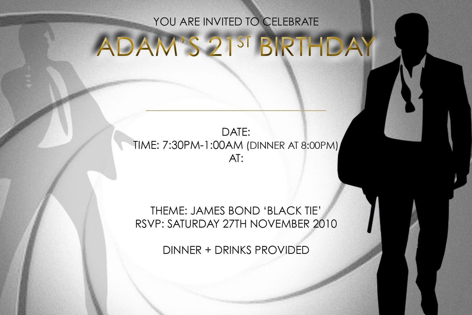 21 Birthday Invitation nowworkinfo – 21st Invitation Templates