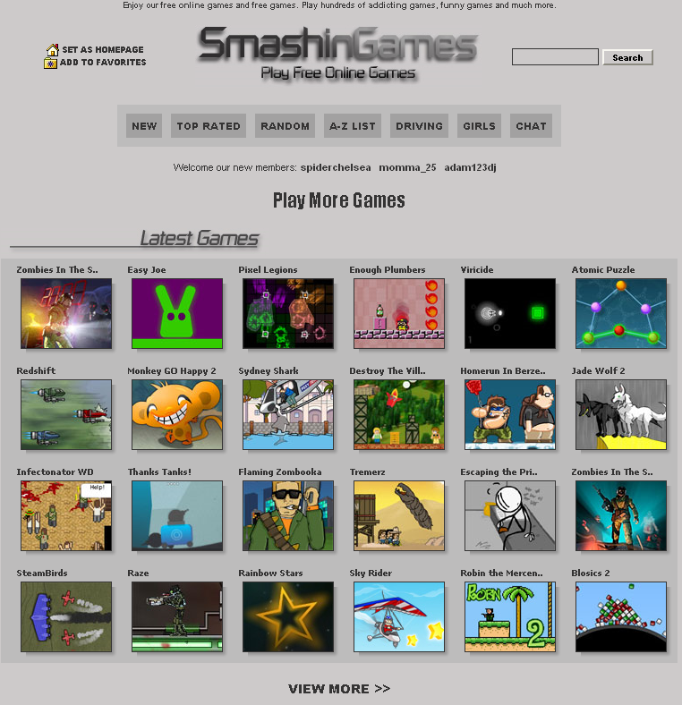 Free Online Games Websites List