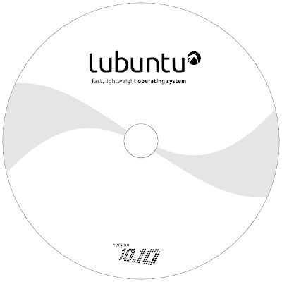 CD cover per Lubuntu 10.10 ~ Il Panda Verde