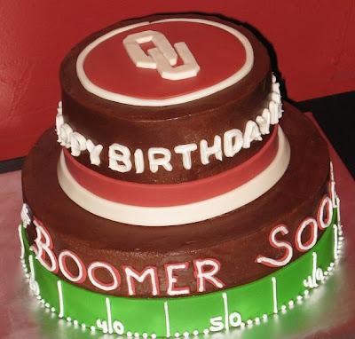 Katie S Cakes Ou Birthday Cake