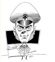 Major Björklund vid pulpeten