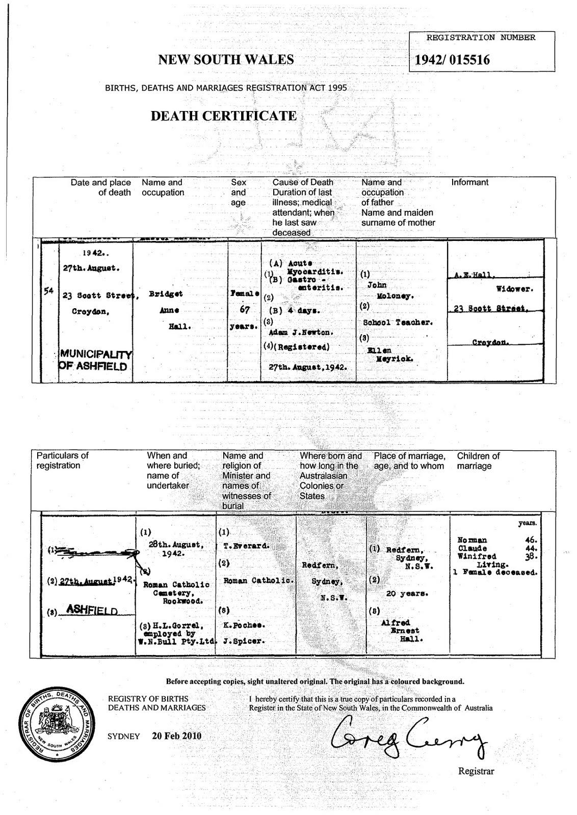 sydney birth records - photo#18