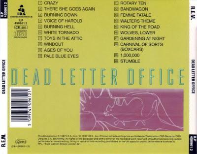la musica de Abel ,Johnny,Clara y Cia: R.E.M. - - - DEAD LETTER OFFICE