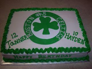 Lucettas Legacy Boston Celtics Cake
