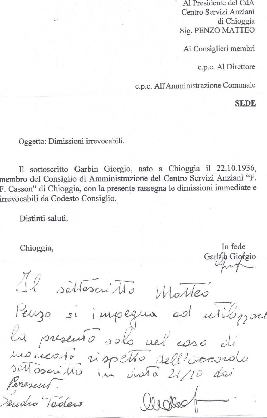 Lettera Di Dimissioni Per Agenti Di Commercio Ahgreenfields