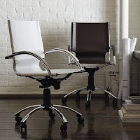 West Elm Swivel Leather Desk Chair