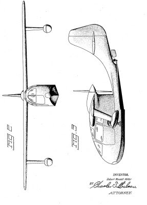 Republic Seabee side and front view plans
