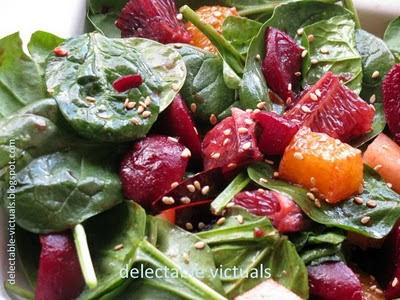 Blood Orange, Beets and Black Plum Salad