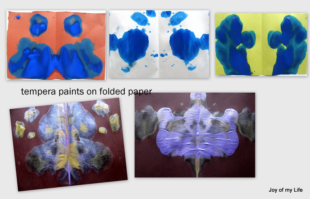 The Joy Of My Life And Other Things Kids Art Folded Paper Paint Blobs