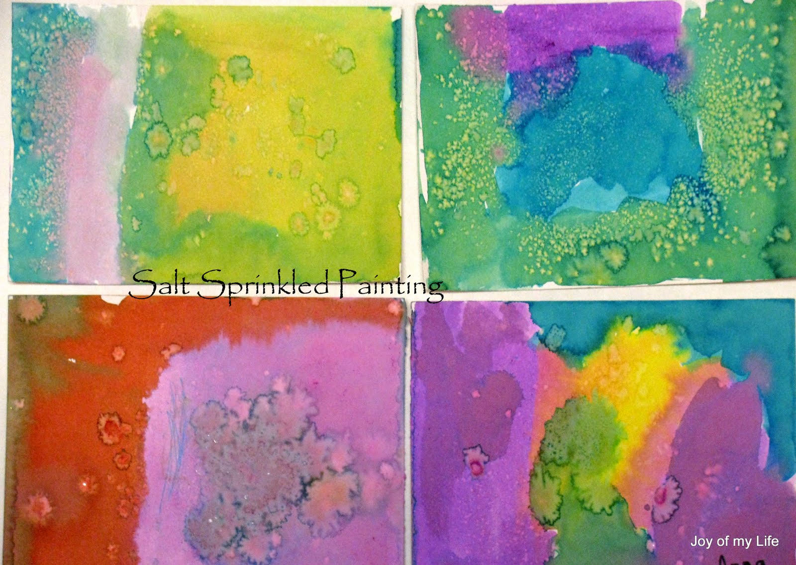 Kids Art Salt Sprinkled Painting