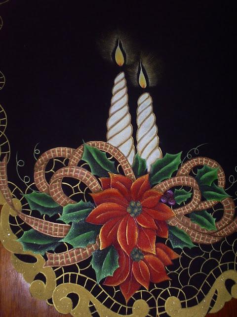 Pirograbado en gamuza, pintura en tela