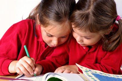 NAMC montessori language arts summer time girls writing
